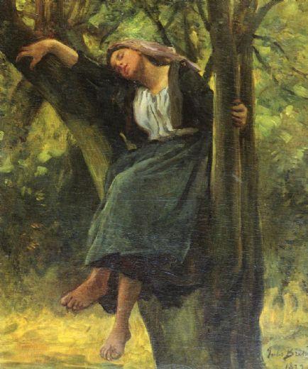 jules-breton-asleep-in-the-woods-