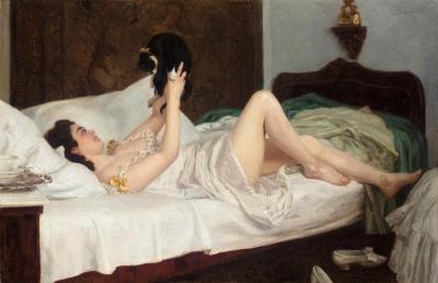 Nicolai Kornilevich Bodarevky -La Mujer del gato