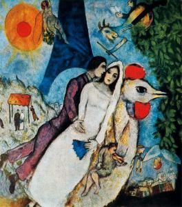 chagall-los-recien-casados-de-la-torre-eiffel