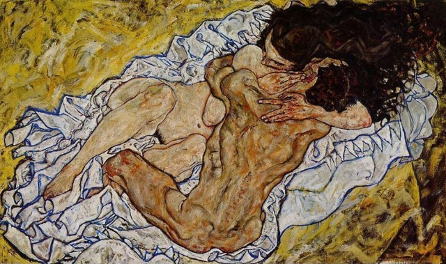 Egon Schiele-Abrazo-Amantes