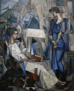 Diego_Rivera,_1914,_Two_Women_(Dos_Mujeres,_portrait_of_Angelina_Beloff_and_Maria_Dolores_Bastian_),_oil_on_canvas,_197.5_x_161.3_cm,_The_Arkansas_Arts_Center,_Little_Rock,_Arkansas
