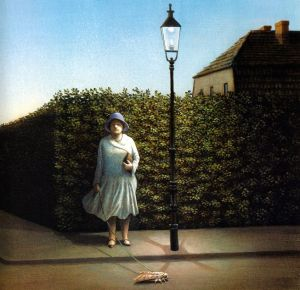 woman-with-moth Michael Sowa