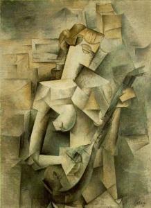 pablo-picasso-mujer-con-mandolina-1910